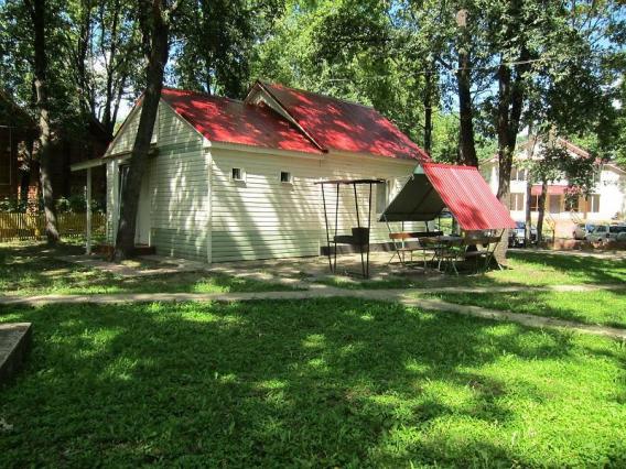 Новая база отдыха на алтае: удобные домики с окнами в пол, банька, ухоженная территория с беседками для барбекю и небольшим бассейном.